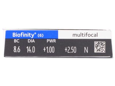 Biofinity Multifocal (6lenti) - Caratteristiche generali