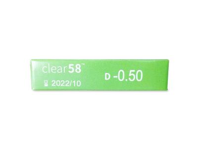 Clear 58 (6lenti) - Caratteristiche generali