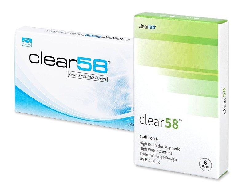 Clear 58 (6lenti) - Lenti a contatto quindicinali