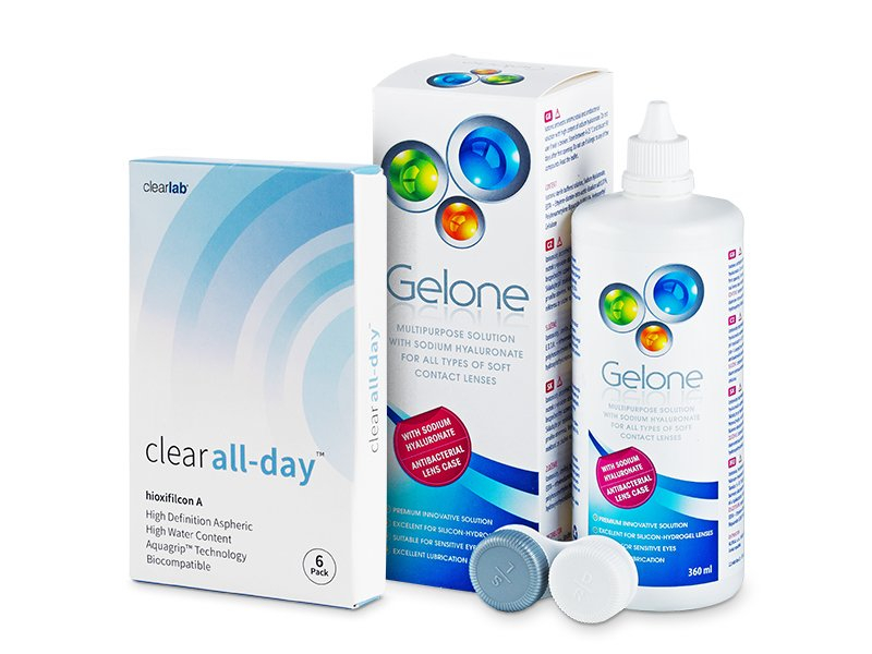Clear All-Day (6 lenti) + soluzione Gelone 360 ml
