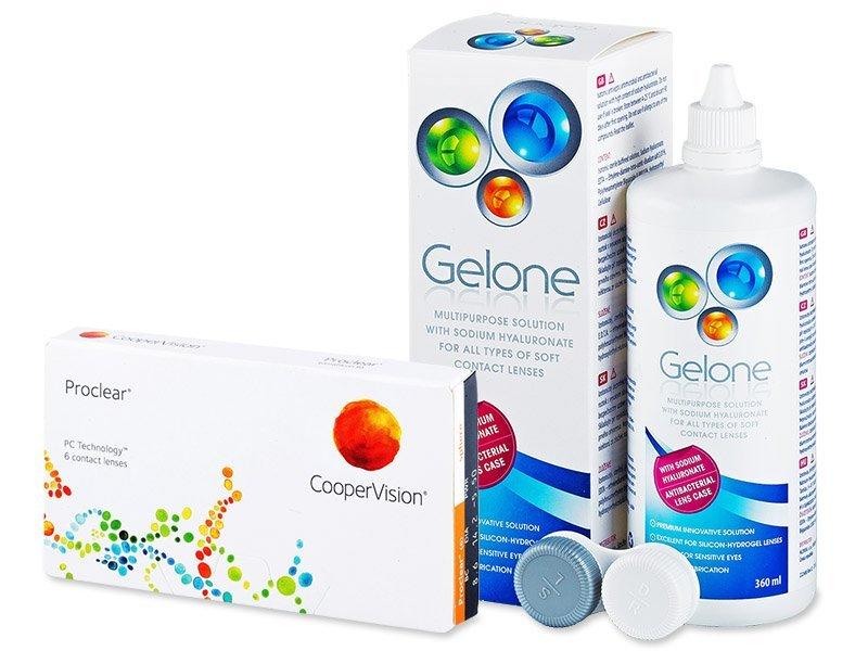 Proclear Compatibles Sphere (6 lenti) + soluzione Gelone 360 ml - Package deal