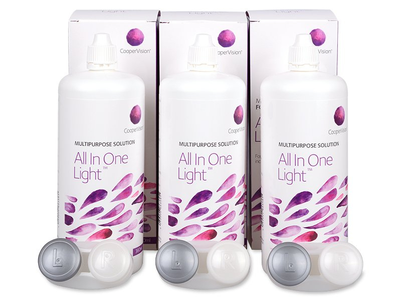 Soluzione All In One Light 3 x 360 ml  - Economy 3-pack - solution