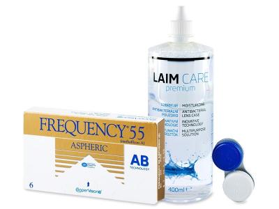Frequency 55 Aspheric (6lenti) + soluzione Laim-Care 400 ml