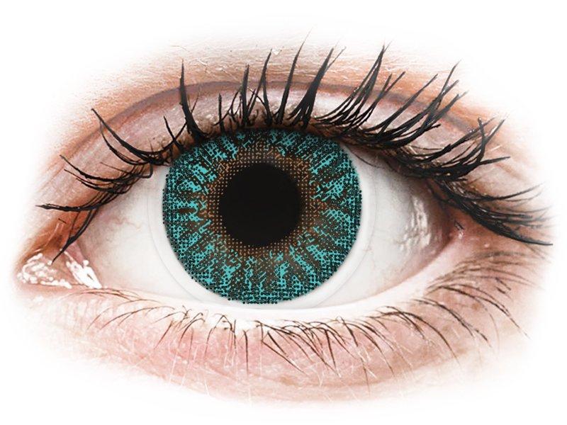 TopVue Color - Turquoise - correttive (2 lenti) - Lenti a contatto colorate