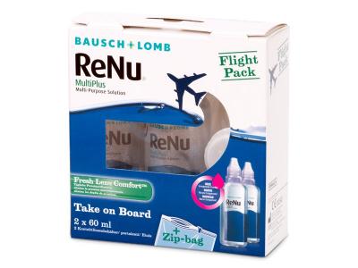 Soluzione ReNu Multiplus flight pack 2 x 60 ml  - Precedente e nuovo design