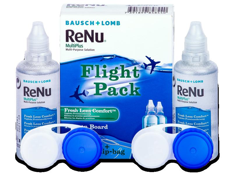 Soluzione ReNu Multiplus flight pack 2 x 60 ml  - Soluzione unica