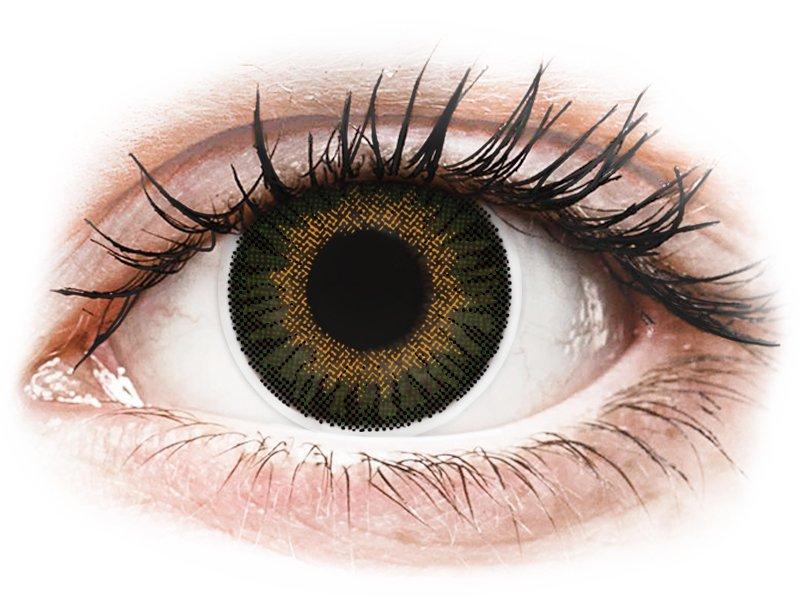 ColourVUE 3 Tones Green - correttive (2lenti) - Lenti a contatto colorate
