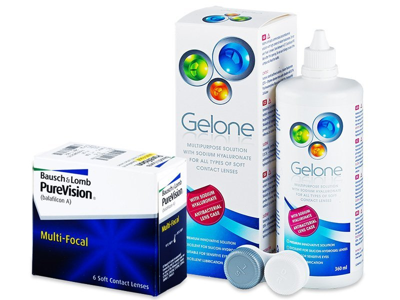 PureVision Multi-Focal (6 lenti) + soluzione Gelone 360 ml - Package deal
