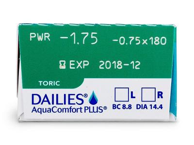 Dailies AquaComfort Plus Toric (30lenti) - Caratteristiche generali