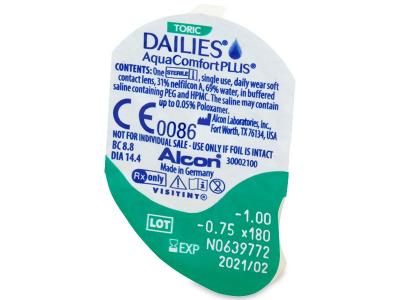 Dailies AquaComfort Plus Toric (30lenti) - Blister della lente