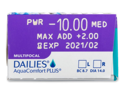 Dailies AquaComfort Plus Multifocal (30lenti) - Caratteristiche generali