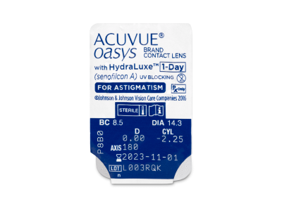 Acuvue Oasys 1-Day with HydraLuxe for Astigmatism (30 lenti) - Blister della lente