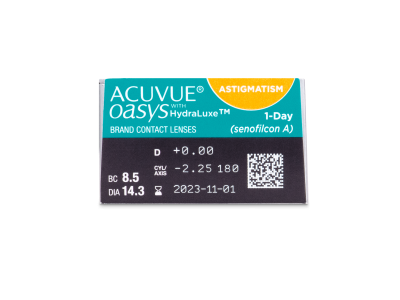 Acuvue Oasys 1-Day with HydraLuxe for Astigmatism (30 lenti) - Caratteristiche generali