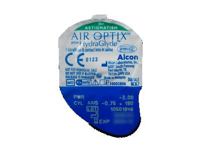 Air Optix plus HydraGlyde for Astigmatism (3 lenti) - Blister della lente