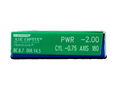 Air Optix plus HydraGlyde for Astigmatism (3 lenti) - Caratteristiche generali