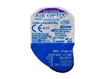 Air Optix plus HydraGlyde Multifocal (6lenti) - Blister della lente