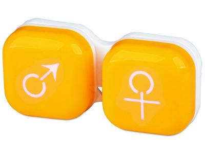 Astuccio porta lenti man&woman - yellow