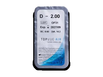 TopVue Air (6 lenti) - Blister della lente