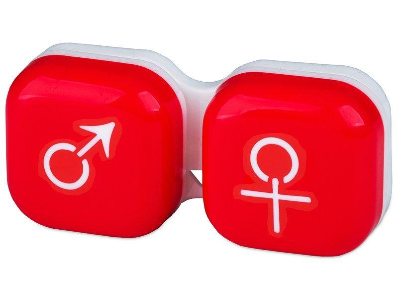 Astuccio porta lenti man&woman - red