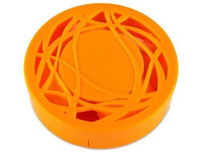 Astuccio con specchietto - orange ornament