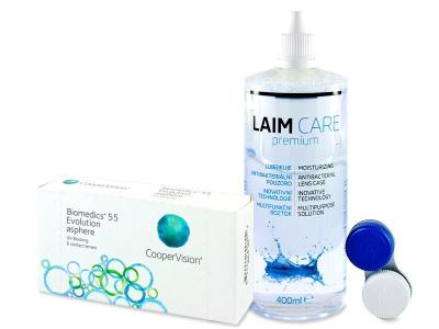 Biomedics 55 Evolution (6lenti) + soluzione Laim-Care 400 ml