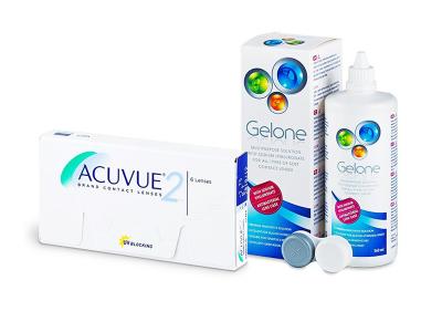 Acuvue 2 (6 lenti) + soluzione Gelone 360 ml