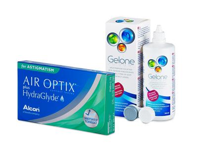 Air Optix plus HydraGlyde for Astigmatism (6 lenti) + soluzione Gelone 360 ml