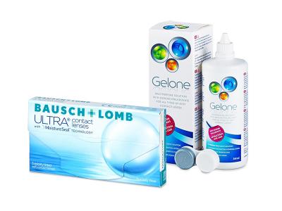 Bausch + Lomb ULTRA (3 lenti) + soluzione Gelone 360 ml