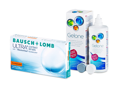 Bausch + Lomb ULTRA for Astigmatism (6 lenti) + soluzione Gelone 360 ml