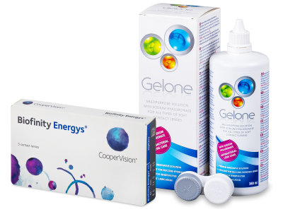 Biofinity Energys (3 lenti) + soluzione Gelone 360 ml