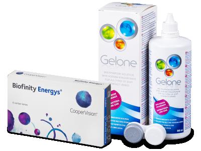 Biofinity Energys (6 lenti) + soluzione Gelone 360 ml