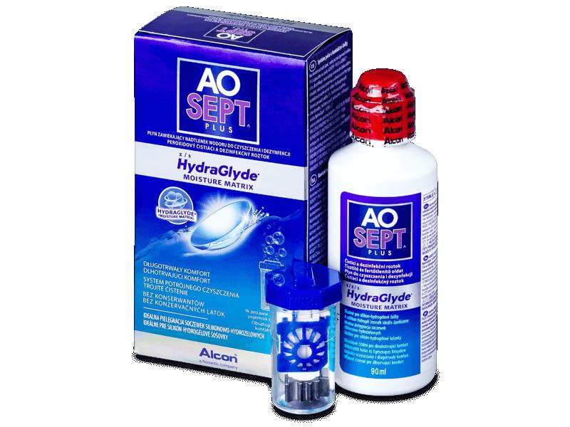 Soluzione AO SEPT PLUS HydraGlyde 90 ml  - Soluzione unica