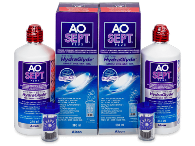 Soluzione AO SEPT PLUS HydraGlyde 2x360ml  - Economy duo pack - solution