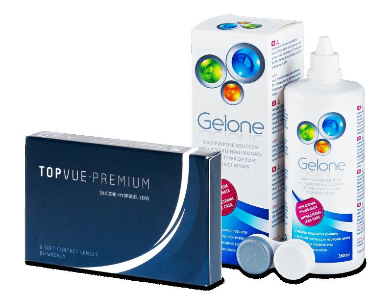 TopVue Premium (6 lenti) + soluzione Gelone 360 ml - Package deal