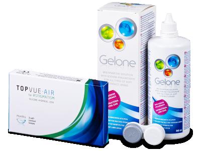 TopVue Air for Astigmatism (3lenti) + soluzione Gelone 360 ml
