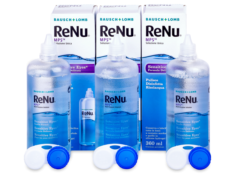 Soluzione ReNu MPS Sensitive Eyes 3x360 ml - Economy 3-pack - solution