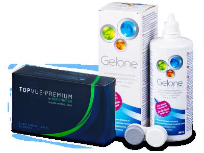 TopVue Premium for Astigmatism (6lenti) + soluzione Gelone 360 ml
