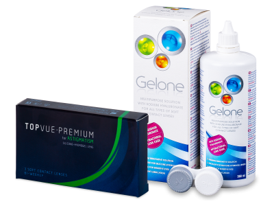 TopVue Premium for Astigmatism (3lenti) + soluzione Gelone 360 ml