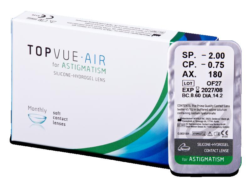 TopVue Air for Astigmatism (1lente) - Lenti a contatto toriche