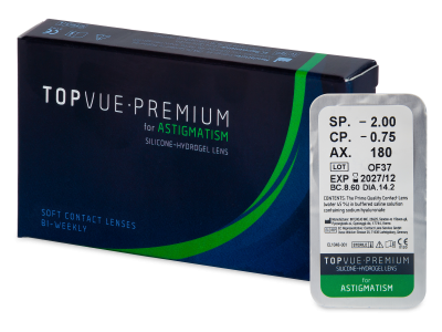 TopVue Premium for Astigmatism (1 lente)