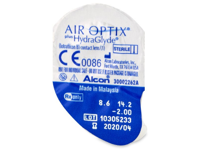 Air Optix plus HydraGlyde (6 lenti) - Blister della lente