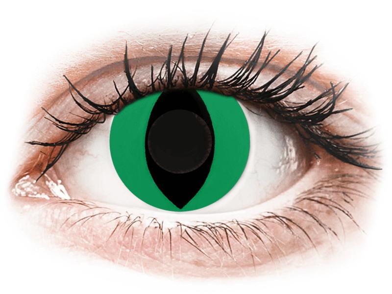 CRAZY LENS - Cat Eye Green - giornaliere non correttive (2 lenti) - Lenti a contatto colorate