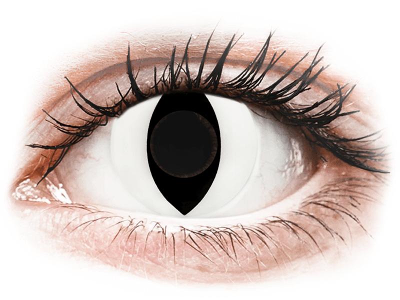CRAZY LENS - Cat Eye White - giornaliere non correttive (2 lenti) - Lenti a contatto colorate