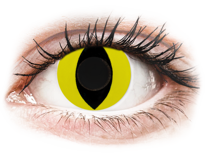 CRAZY LENS - Cat Eye Yellow - giornaliere non correttive (2 lenti)