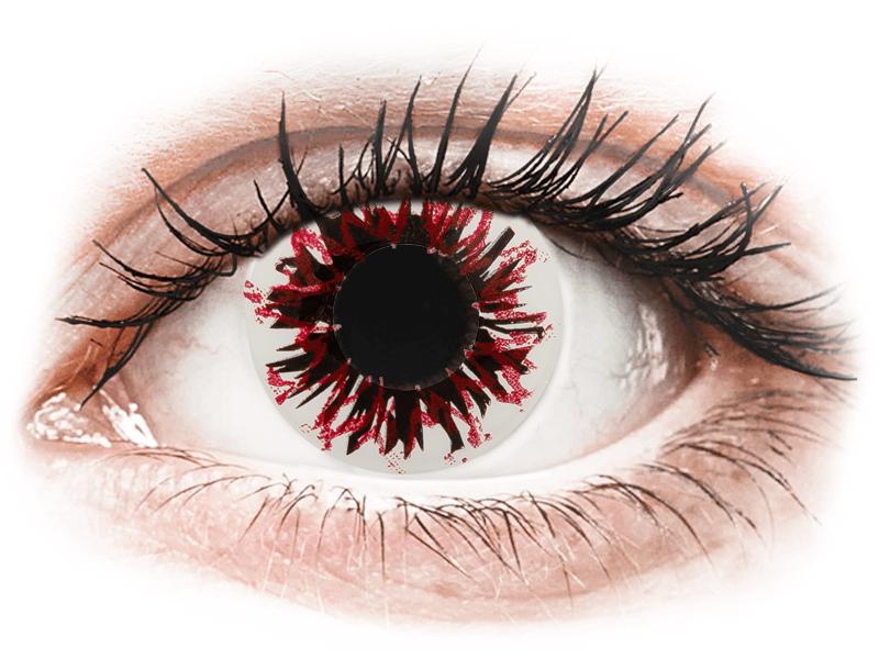 CRAZY LENS - Harlequin Black - giornaliere non correttive (2 lenti) - Lenti a contatto colorate