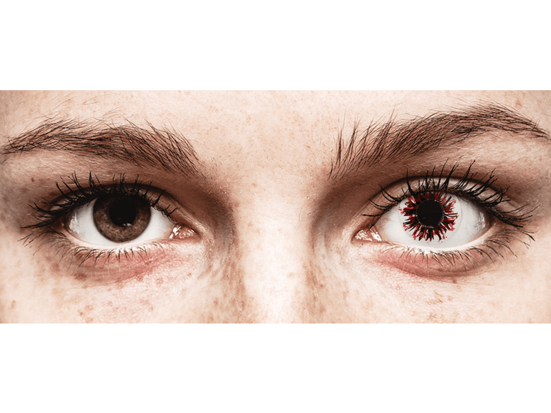 CRAZY LENS - Harlequin Black - giornaliere non correttive (2 lenti)