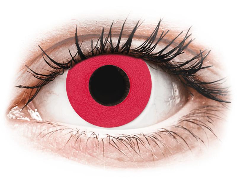 CRAZY LENS - Solid Red - giornaliere non correttive (2 lenti) - Lenti a contatto colorate