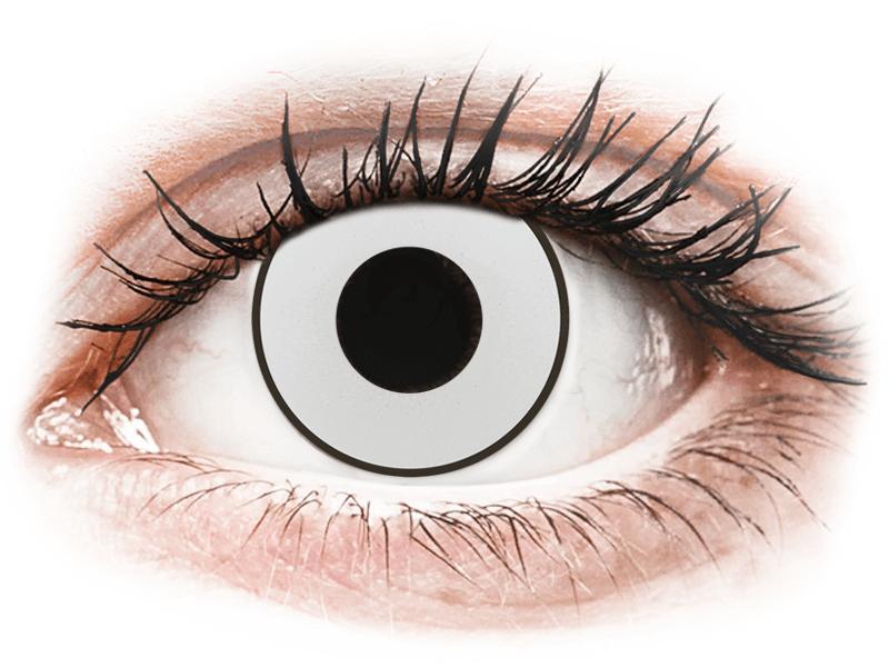 CRAZY LENS - White Black - giornaliere non correttive (2 lenti) - Lenti a contatto colorate