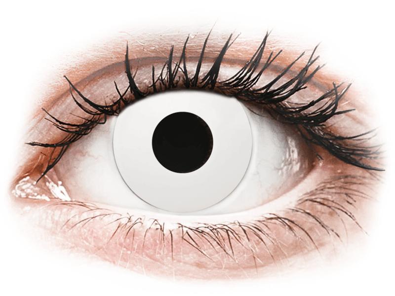 CRAZY LENS - WhiteOut - giornaliere non correttive (2 lenti) - Lenti a contatto colorate