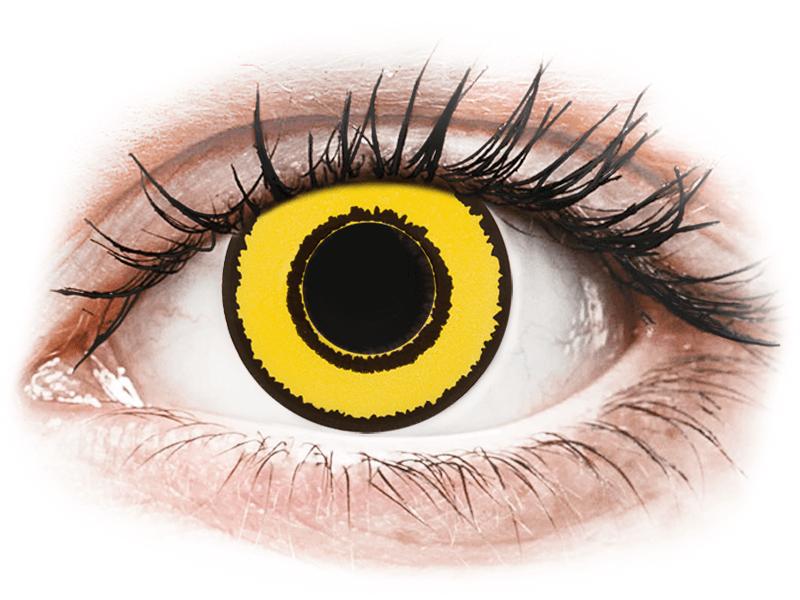 CRAZY LENS - Yellow Twilight - giornaliere non correttive (2 lenti) - Lenti a contatto colorate